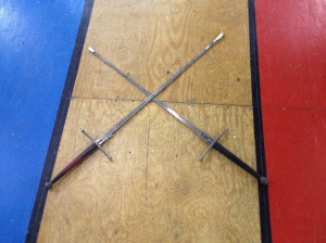 Crossing two swords gives you four quadrants to work with.