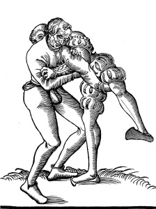 "The second Schlosringen (Lock Wrestling) from Fabian von Auerswald. This technique is presented in it's safer ""sport"" version, but can easily be turned into a vicious elbow break."